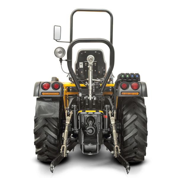 Vista posterior del tractor PASQUALI Orion 8.75-8.85-8.95 RS
