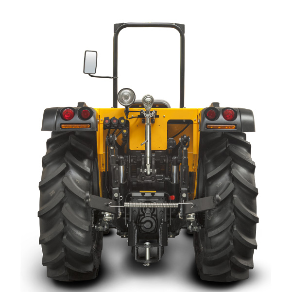 Vista posterior del tractor PASQUALI Orion 7.75-7.85-7.95 SDT DS