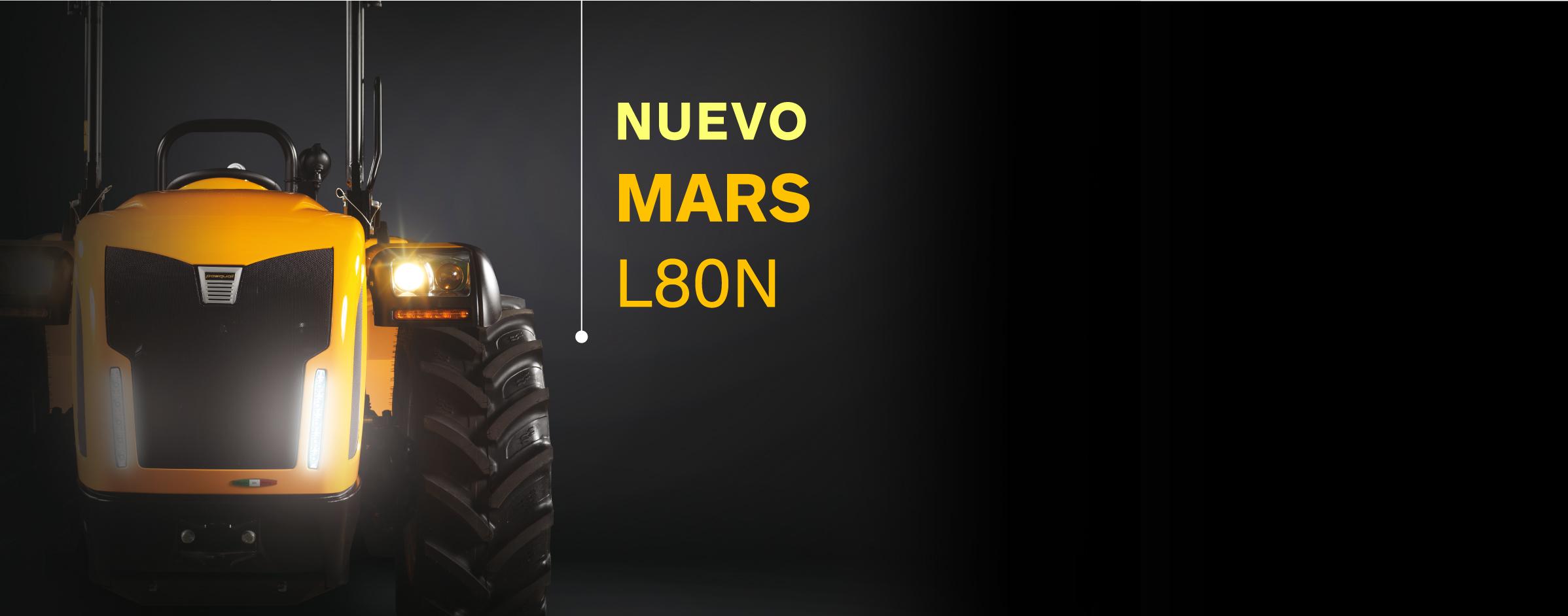 Nuevo Mars L80N - tractor compacto con el capó más bajo de la gama alta
